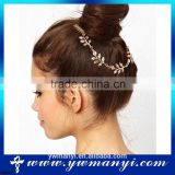 New design fashion style beautiful leaves fake white gold head jewelry H0022                                                                         Quality Choice