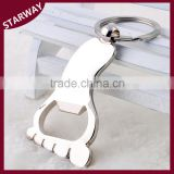 NEW design SW17057 zinc alloy cute foot Keychain bottle opener/                                                                                                         Supplier's Choice