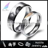 stainless steel ring fashion trendy couple rings for valentine's day