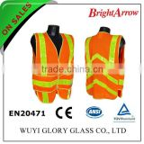 ENISO 20471 Standard cheap reflective orange bicycle safety workwear