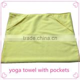 "Super Big Size Microfiber Yoga Towel 26""*72"" With Corner Pockets Made In China"