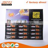 Jinyu hot sale factory price oem odm welcome 3 seconds quick dry 1.5g best super glue for plastic                                                                         Quality Choice