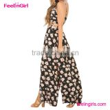Girl boho hollow out vintage floral print long dress                                                                         Quality Choice
