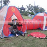kids play bus tent with tunnel,school bus play tent-KT38