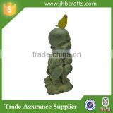 Resin Baby Buddha Statue Indoor Garden Decor