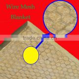 Flexible Fireproof Rockwool Insulation Blanket With Wire Mesh