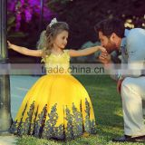 Mother and Child Dress Elegant Royal Satin Baby girl Flower Girl Dress Birthday Party Dress for Children CYGF-007