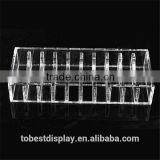 excellent craft 10 slots 5 sided storage divided clear acrylic jewelry boxes/bracelet holder/bangle holder