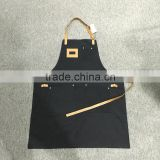 custom vintage canvas apron with leather strap
