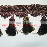 China Wholesale Decorative Polyester Tassel Fringe, Fabric Trim For Curtain, Furniture