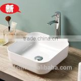 2015 Foshan Newest super slim thin edge art ceramic basin lavatory bowl Italy styel sink bathroom vanity counter top wash basin