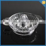 LXHY-J009 no electricity slow juicer hand press juicer Crystal Glass manual fruit citrus lemon juicer