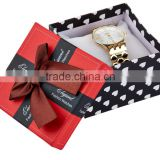 New luxury cardboard watch box packaging, gift paper watch packaging, single watch boxes
