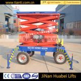 Hydraulic Motor with Four -Wheel Mobile Scissor Lift Table with in china