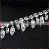 Feilang 2014 wholesale Horse eyes fancy crystal stones cup chain,new fashion design, 5 yards/roll