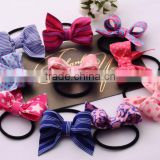 2016 Hot Sale Elastic Hair Band Korean Style Fashion Jewelry Multi Color Bulk Butterfly Hair Band/