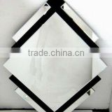 Simple Bevelled Black and Silver Diamond-shaped Wall Mirror/Glass Mirror/Modern Design Mirror