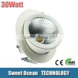 2015 New design High power LED trunk light 30w double head LED downlight with CE&RoHS