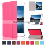 Colorful 3 folders magnet stand free sample tablet leather cover for iPad mini 4 with soft cloth inside