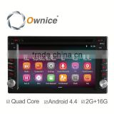 Ownice quad core Android 4.4 up to android 5.1 indash universal car DVD built in wifi DDR3 2G RAM