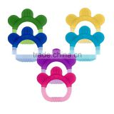 2016 BPA free Paw Soft Silicone baby Teethers for Christmas Promotion