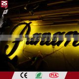 High quality backlit 3d lighted logo illuminated letter sign led metal advertising boards