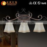 European-style wall lamp,bedside bedroom hotel wall lamp,minimalist interior glass wrought iron wall lamp