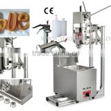 (4 in 1) Commercial Spanish Manual 3L Churros Machine + Working Stand + 6L LPG Gas Deep Fryer + 1L Filling Machine