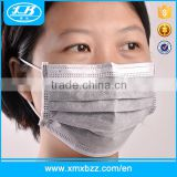 Non Woven Fabrics Cleanroom Black Disposable Face Mask