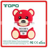 Hot-Sale Cute Teddy bear Animal 3D Cartoon Design soft silicon shell phone cover Shockproof case for iPhone 6 6s plus