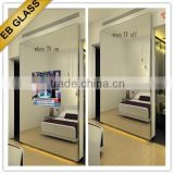 Remote Touch Control Hotel Mirror TV, Flat Screen TV Behind Mirror EB GLASS BRAND