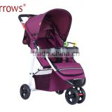 Cheapest Price 3 in 1 Baby Stroller Made in China Factory/ Steel Buggy Baby Carriage in Dubai