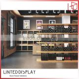 China factory made top mdf made grid wine cabinet
