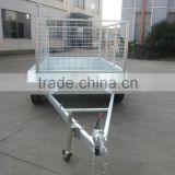 2015 new fully welded chequer plate box trailer/ tandem cage trailer /Farm Uitlity Car trailer /Dump garden trailer