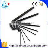 9pc long arm ball point allen hex key set.allen wrench set with black color