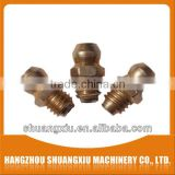custom wholesale brass m6x1 alemite grease fitting straight