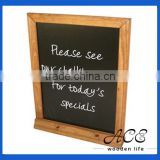 Pub Wooden Blackboard Wooden Menu Board Resturant Advertising Black Board Solid Wooden Frame Chalk Board with Frame