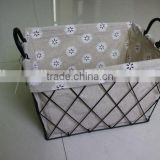 handmade wire mesh kitchen storage baskets stainless steel wire mesh baskets with fabric liner