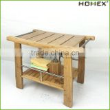 Bamboo Shower Seat Bench Bathroom Spa Bath Stool Homex BSCI/Factory