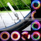 2016 new 5 LEDs Bike Wheel Tire Valve Cap Neon Light Bicycle Spoke Lamp
