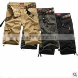 casual Men's Cargo Shorts , Bermuda shorts military Multi-pocket tactics shorts brand clothing Heat