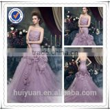 Floor Length A-line beading Applique Flowers Long Bridesmaid Dresses