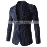 1 pc hot sale good quality 4 size for choice slim fit striped long sleeve V neck slim fit men blazer