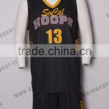 Team basketball jersey cool clubs basketball wear high quality basketball jerseys black color