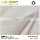 high quality fashion 100% hemp twill fabric