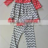 Bulk Wholesale Newborn Baby Toddler Girls Peasant Desinger Chevron Pants Clothing Sets Cute Infant Girls Cotton Outfits