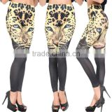 2014 New European and American black tiger head seamless printing leggings female feet pantyhose leggings