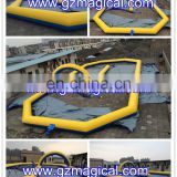Multi-functional portable inflatable rack track / inflatable go kart track for kids playing