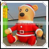 Christmas inflatable teddy bear, promotion inflatable bear toys , inflatable outdoor decor model for christmas holiday