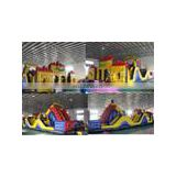 Giant Inflatable obstacle course with slide for sale
